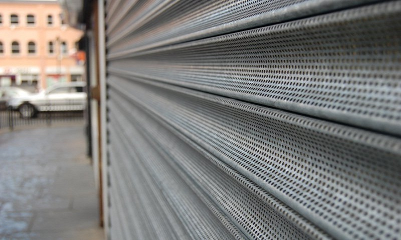 Perforated-Roller-Shutters-Installation